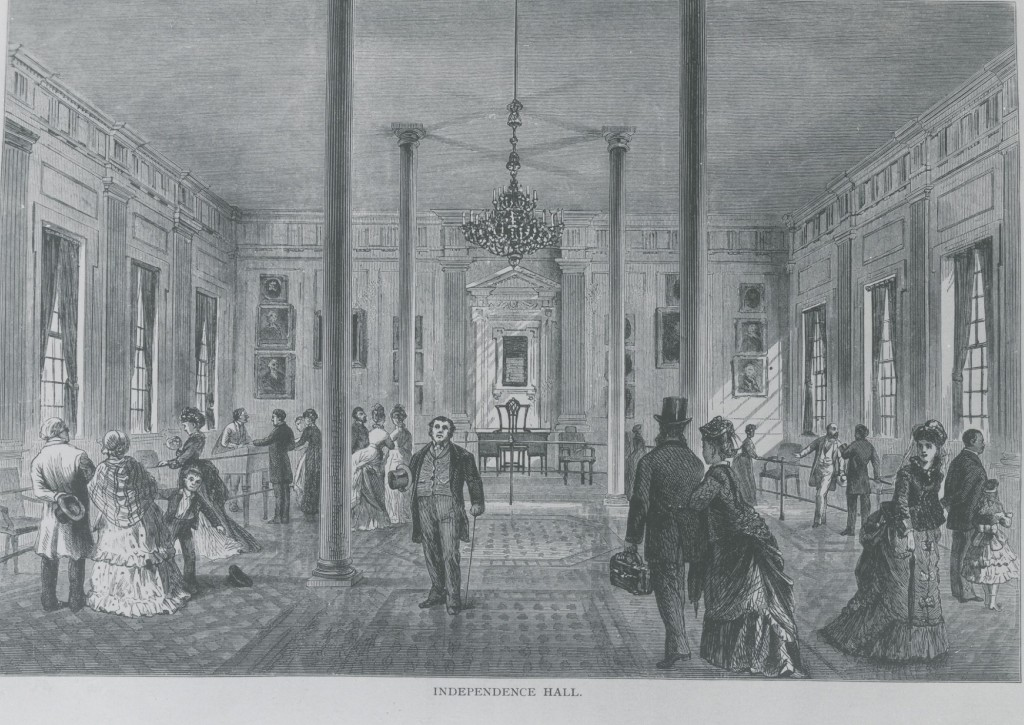 Independence Hall Assemby Room 1875 from book A Century Aff